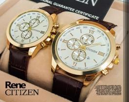 ست ساعت مچی مردانه و زنانه Citizen مدل Rene(صفحه سفید)