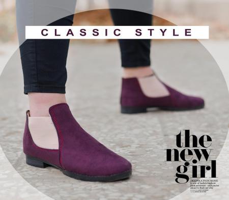 کفش دخترانه Mita (زرشکی)