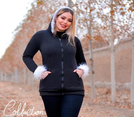 سویشرت زنانه کلاه خز Arzhan