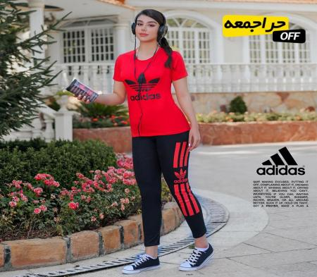 ست تیشرت و شلوار دخترانه Adidas مدل Yasna