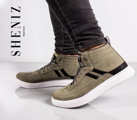 کفش ساقدار مردانه Sheniz (سبز)